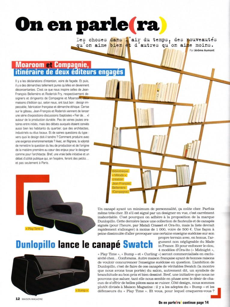 BIBLIOTHEQUE MIKADO Maison Magazine juillet 2010