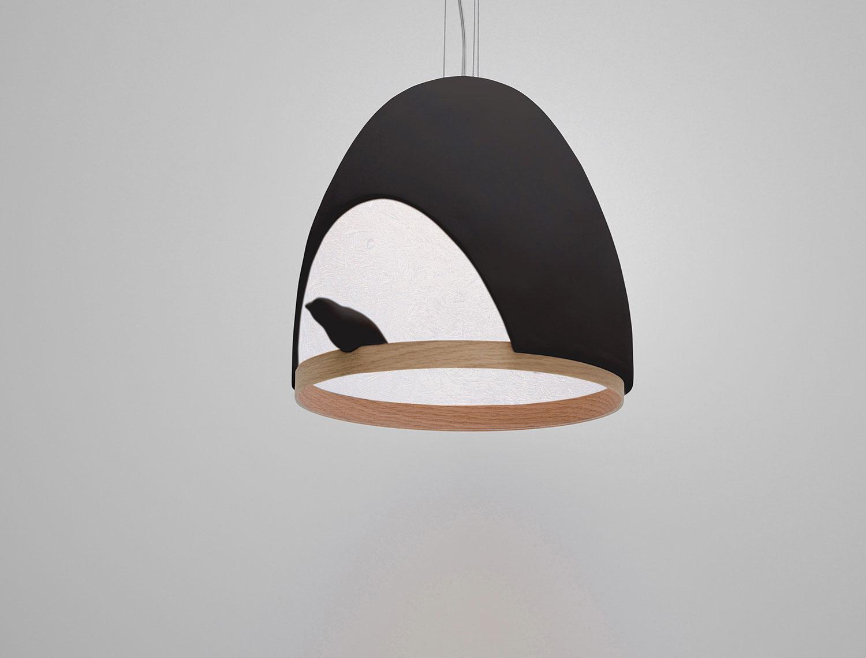Lampe OISEAU / Ceiling light « - Lampe Oiseau