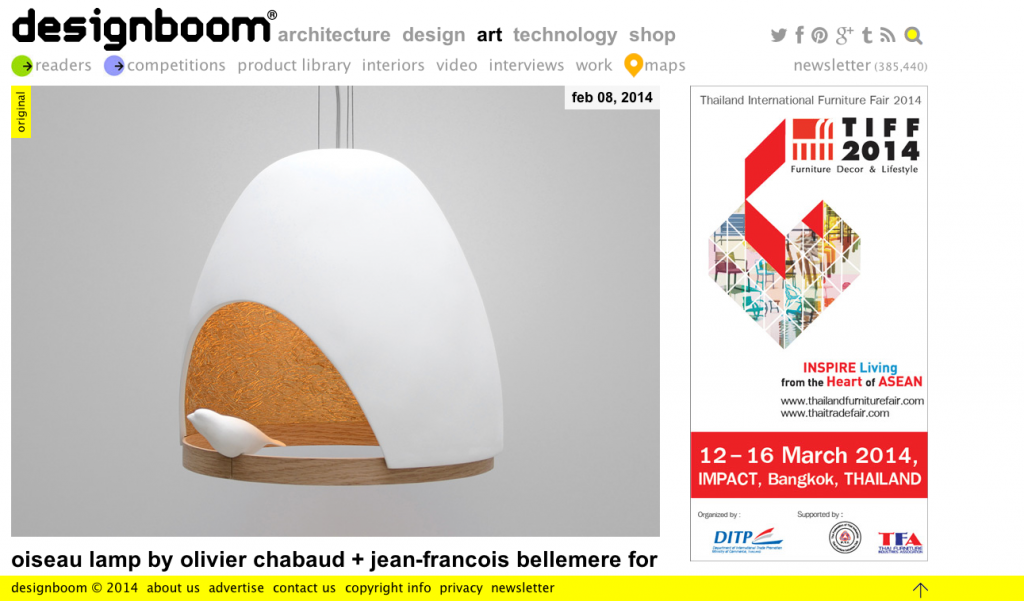 LAMPE OISEAU designboom 2014-02-14