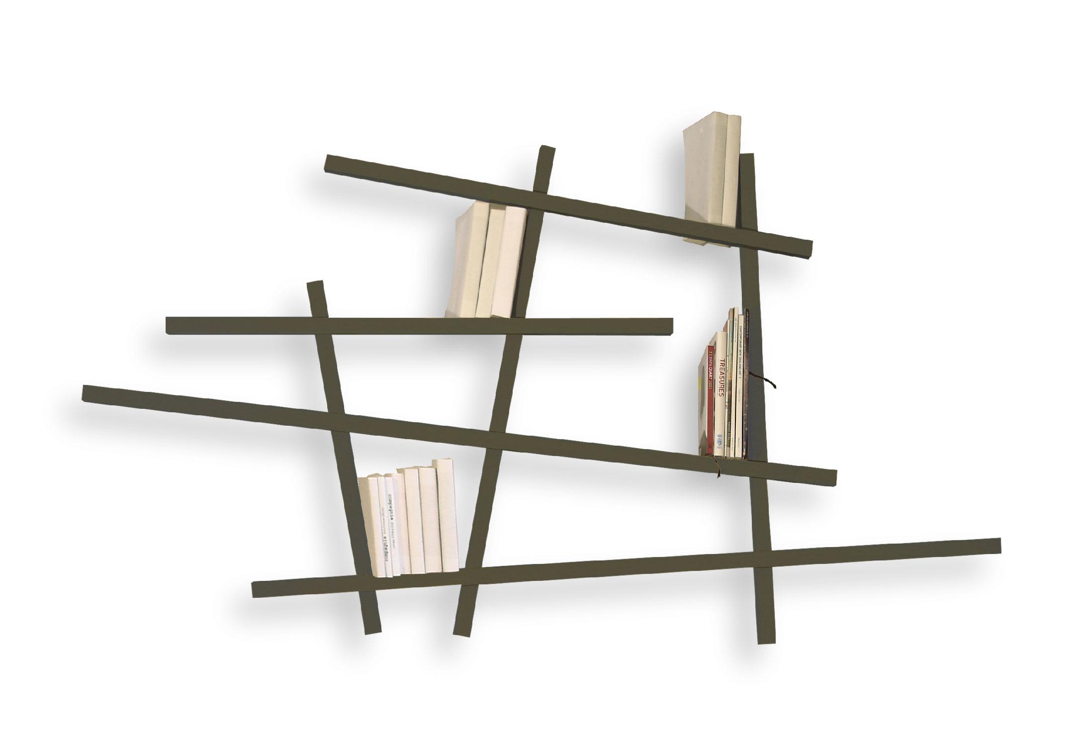 biblioth que mikado laqu e petit mod le. Black Bedroom Furniture Sets. Home Design Ideas