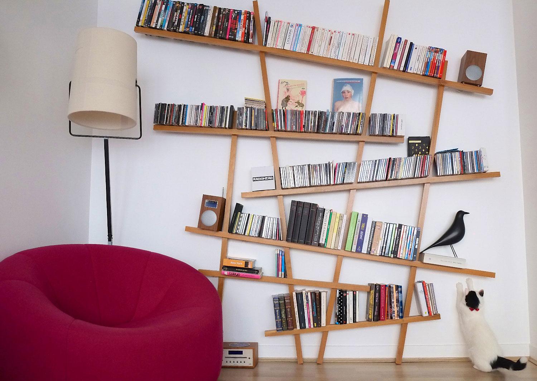 biblioth que mikado laqu e grand mod le. Black Bedroom Furniture Sets. Home Design Ideas