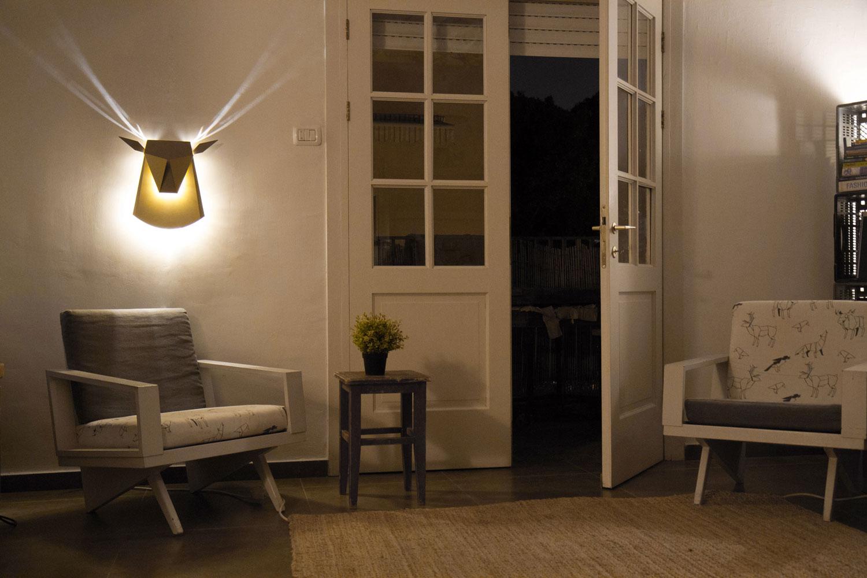 lampe cerf. Black Bedroom Furniture Sets. Home Design Ideas