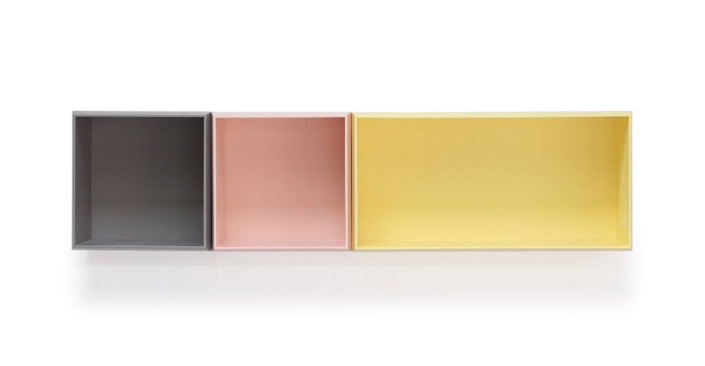 ISOUS 3 boîtes brun durangon Rose boogie Jaune Gottman FOND blanc